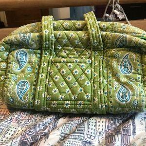 Cute green floral purse